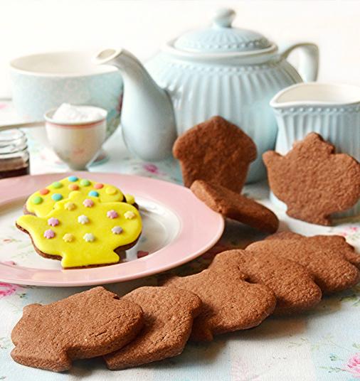 Biscuits au chocolat parfumés à la fleur de sel et Vinaigre Balsamique de  Modène IGP