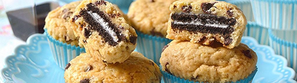 Muffin-Chocolate Chip Cookies ripieni di biscotto e profumati all'Aceto Balsamico di Modena IGP