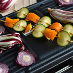 Raclette of Vegetables with Honey Tomini, Gourmet Salads and Sweet&Sour Cucumbers