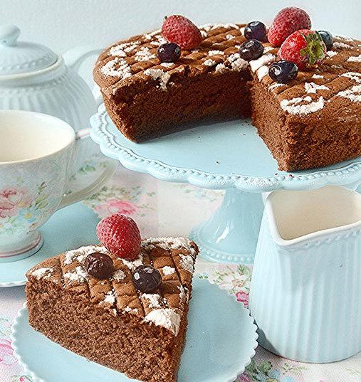 Hot milk sponge cake au cacao et Vinaigre Balsamique de Modène IGP