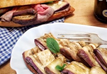 Melanzane marinate con Aceto Balsamico di Modena IGP e menta