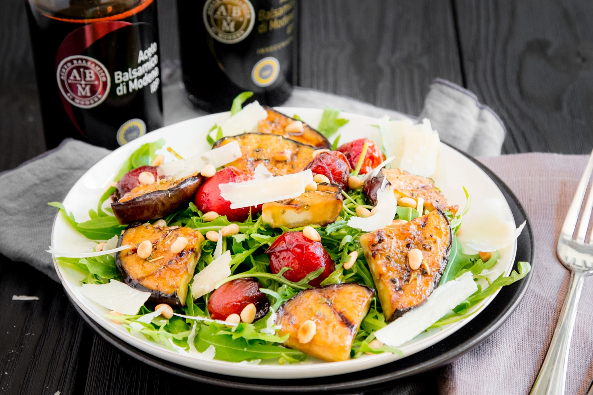 salade roquette tomates vinaigre balsamique