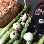 Croûtons aux asperges et œufs de caille au Vinaigre Balsamique de Modène IGP
