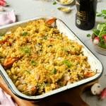 Crumble de légumes rôtis au Vinaigre Balsamique de Modène IGP Vieilli et amandes