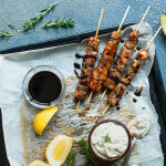 Brochettes de thon et tzatziki aux endives