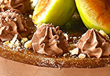 Cheesecake with Ricotta and chocolate mousse with Balsamic Vinegar of Modena PGI fig cream