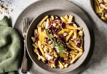 Herbstliche Pasta mit Radicchio Orangen und Aceto Balsamico di Modena g.g.A.
