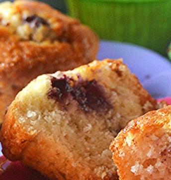 Blueberry muffins with Balsamic Vinegar of Modena PGI