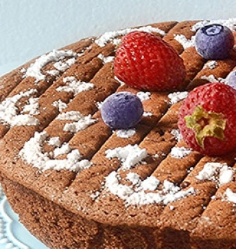 Hot milk sponge cake with cocoa and Balsamic Vinegar of Modena PGI