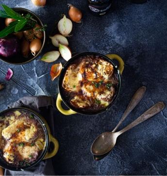 Soupe à l'oignon gratinée au Vinaigre Balsamique de Modène IGP