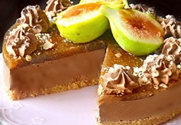 Cheesecake avec mousse ricotta chocolat et crème de figues au Vinaigre Balsamique de Modène IGP