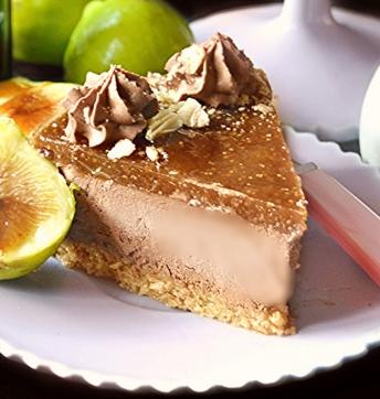 Cheesecake con mousse alla ricotta cioccolato con crema di fichi all'Aceto Balsamico di Modena IGP