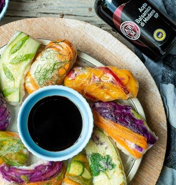 Spring rolls con verdure e riso