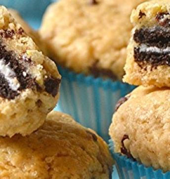 Muffin-Chocolate Chip Cookies rellenos de galleta y aromatizados al Vinagre Balsámico de Módena IGP