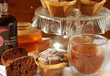 Petits gâteaux avec farine de châtaignes ricotta et Vinaigre  Balsamique de Modène IGP