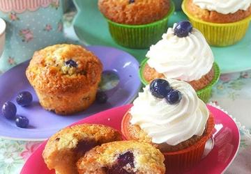 Muffins aux myrtilles avec Vinaigre Balsamique de Modène IGP